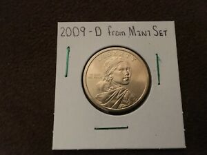 2009 D UNCIRCULATED SACAGAWEA DOLLAR COIN FROM US MINT SET