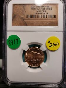 Click now to see the BUY IT NOW Price! 2009 SMS LINCOLN CENT BIRTH & CHILDHOOD CERTIFIED 8917