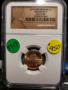 Click now to see the BUY IT NOW Price! 2009 SMS LINCOLN CENT PRESIDENCY CERTIFIED 8919