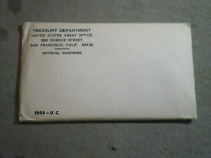 1968 U.S. UNCIRUCLATED MINT SET/ ORIGINAL ENVELOPE SEALED  [UNCERTIFIED]