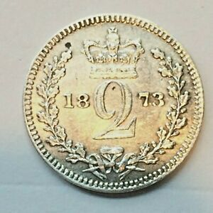 1873 MAUNDY G. BRITAIN 2 PENCE