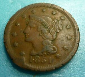 1851 LARGE CENT   LC51 6