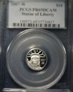 2007 W $10 PLATINUM EAGLE PROOF PCGS PR69 DCAM LOW MINTAGE