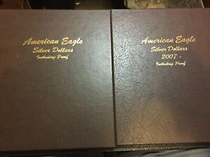 Click now to see the BUY IT NOW Price! 1986 THRU 2019 SILVER AMERICAN EAGLE 2 BOOK SET 84 COINS WITH PROOFS