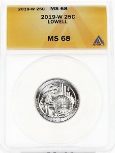 Click now to see the BUY IT NOW Price! 2019 W ANACS MS68 LOWELL QUARTER 25C SUPERB GEM BU COIN WEST POINT    5797