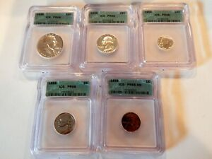 Click now to see the BUY IT NOW Price! 1955 PROOF SET ICG GRADED PR68  ALL NICE BRIGHT COINS