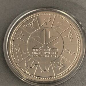 Click now to see the BUY IT NOW Price! 1952 1977 CANADA ELIZABETH II EDMONTON COMMONWEALTH GAMES SILVER COIN