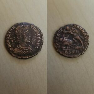 337   350 CONSTANS ANCIENT ROMAN COIN TWO VICTORIES