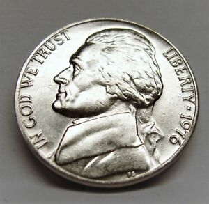 1976 P BU JEFFERSON NICKEL PULLED FROM OBWROLL