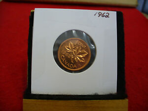 1962  CANADA  1  CENT COIN  PENNY  PROOF LIKE  HIGH  GRADE  SEALED  SEE PHOTOS