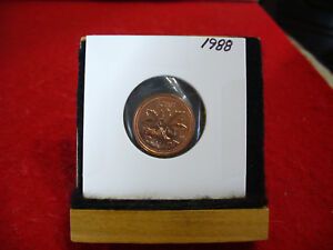 1988  CANADA  1  CENT COIN  PENNY  PROOF LIKE  HIGH  GRADE  SEALED  SEE PHOTOS