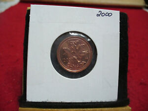 2000  CANADA  1  CENT COIN  PENNY  PROOF LIKE  HIGH  GRADE  SEALED  SEE PHOTOS