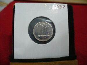 1997 CANADA  DIME  10 CENTS    TOP GRADE  97  PROOF LIKE  SEALED  SEE PHOTOS