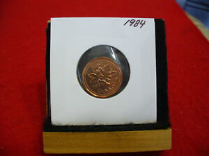 1984  CANADA  1  CENT COIN  PENNY  PROOF LIKE  HIGH  GRADE  SEALED  SEE PHOTOS