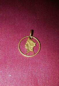 CUT OUT GENUINE 1851 US ONE DOLLAR LIBERTY HEAD GOLD COIN PENDANT