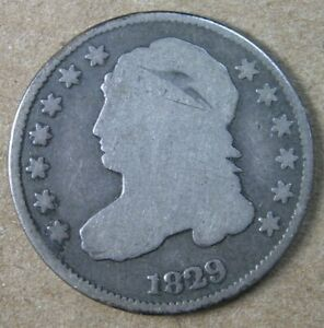 10C 1829 LARGE 10C CAPPED BUST DIME GOOD   AVENUECOIN