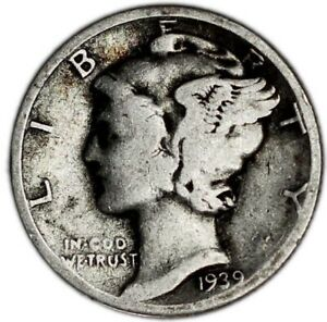 UNITED STATES COIN MERCURY DIME 1939.