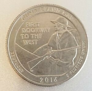 2016 D CUMBERLAND GAP QUARTER COIN