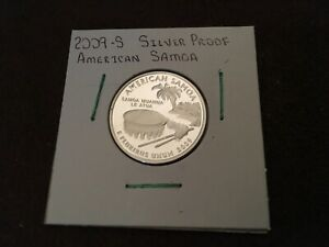2009 S SILVER PROOF AMERICAN SAMOA US TERRITORIES QUARTER FROM US MINT SET