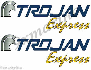 Two Trojan Boat Remastered Stickers-Express - $ 49.95