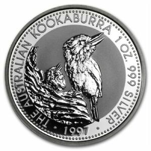 Click now to see the BUY IT NOW Price! KOOKABURRA 1997  PERTH MINT AUSTRALIA $1 1 OZ .999 SILVER COIN IN CAPSULE