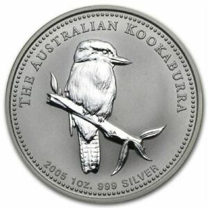 Click now to see the BUY IT NOW Price! AUSTRALIA $1 KOOKABURRA 2005   PERTH MINT1 OZ .999 SILVER COIN IN CAPSULE