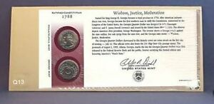 1999 GEORGIA FIRST DAY COIN COVER SEAL WRAP & OPEN ENVELOPE Q13 LOWRERD PRICES