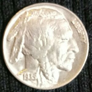 1935 BUFFALO NICKEL REVERSE CUD  NICE COIN SEE PICS FOR DETAILS