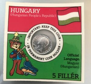1970 HUNGARIAN 5 FILLER COIN IN FACTORY SEALED COIN HOLDER