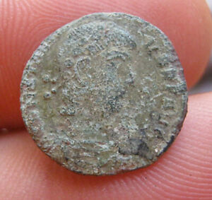 ROMAN COIN FROM SERBIA. UNCLEANED 15 MM