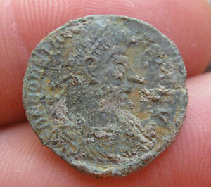ROMAN COIN FROM SERBIA. UNCLEANED 18 MM