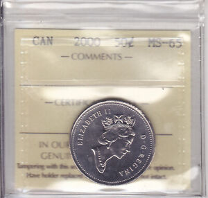 Click now to see the BUY IT NOW Price! 2000 ICCS MS65 50 CENTS CANADA FIFTY HALF DOLLAR