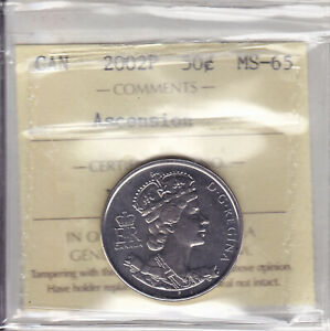 Click now to see the BUY IT NOW Price! 2002P ICCS MS65 50 CENTS ASCENSION  IMPERIAL STATE CROWN  CANADA FIFTY HALF DOLL