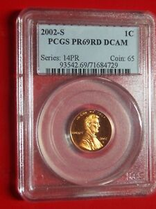 2002 S LINCOLN CENT PCGS PR 69RD DCAM  NICE FIRERY RED PROOF  FREE US SHIPPING