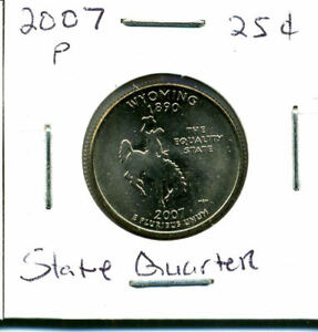 2007 P STATE QUARTER WYOMING  CH BU QUARTER U.S UNCIRCULATED MS COIN 594