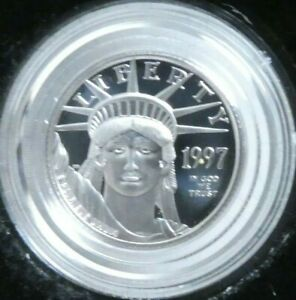 1997 W $10 PLATINUM AMERICAN EAGLE PROOF COIN 1/10 OZ BOX COA