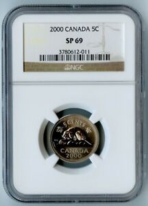 Click now to see the BUY IT NOW Price! 2000 CANADA NGC SP69 BEAVER NICKEL 5C  ONLY ONE COIN GRADED HIGHER BY NGC