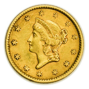 1853 $1 GOLD LIBERTY HEAD TYPE 1 TINY COIN [4389.01]