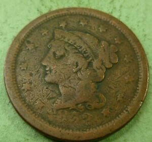 1852 LARGE CENT   LC52 LOWER GRADE