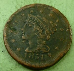 1851 LARGE CENT   LC51 CULL