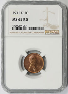 Click now to see the BUY IT NOW Price! 1931 D LINCOLN WHEAT PENNY 1C MS 65 RD RED NGC