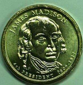 2007 P JAMES MADISON UNCIRCULATED PRESIDENTIAL ONE DOLLAR ICG MS 63 OR BETTER