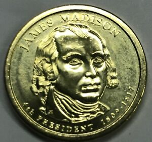2007 D JAMES MADISON UNCIRCULATED PRESIDENTIAL ONE DOLLAR ICG MS 63 OR BETTER