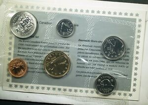 1996 CANADA UNCIRCULATED COIN SET   MINT SET   ORIGINAL ENVELOPE & COA
