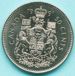 1991 CANADA 50 CENTS COIN