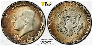 Click now to see the BUY IT NOW Price! 1966 50C KENNEDY HALF DOLLAR PCGS MS67 37579772 TONED W/ TRUEVIEW