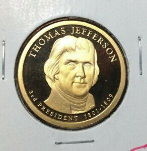 2007 S PRESIDENTIAL SET 4 COIN LOT    PROOF JEFFERSON WASHIGTON MADISON ADAMS