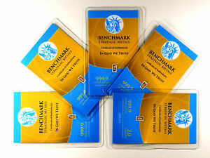 GOLD BULLION TIMES 5 PURE 24K GOLD BARS A6B