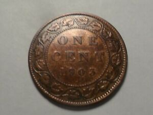 1903 NICE CANADA BRONZE ONE CENT MINTAGE 4 000 000