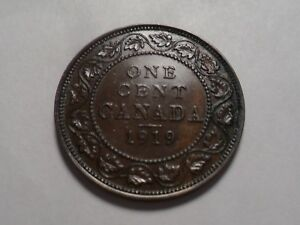 1919  NICE CANADA BRONZE ONE CENT MINTAGE 11 279 634